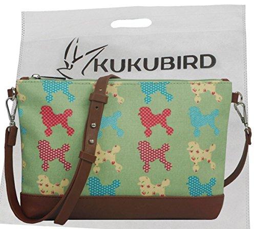 Kukubird Cane Mixed Mini Cross Body Bag Con Sacchetto Di Polvere Di Kukubird Fuchsia