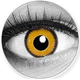Lenti a contatto colorate Lunatic Sun Giallo Nero + contenitore – Funnylens marchio di qualità, 1 Coppia (2 pezzi) colorato L