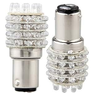 2 T25 1157 P21/5W LAMPE AMPOULE 45 LED ROUGE PR VOITURE