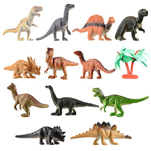 TOYMYTOY Mini Dinosaurier Spielzeug Set Dinosaurier Figuren für Kinder Ausbildung, 12 Stück - Kinder Dinosaurier-spielzeug Für