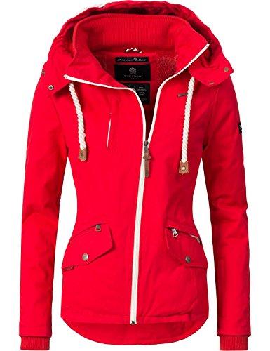 Navahoo Damen Outdoorjacke Übergangs Jacke Rehauge (vegan hergestellt) Rot Gr. S