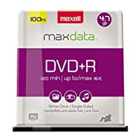Maxell MAX639016 - Maxell 16x DVD+R Media سواقة أقراص ضوئية
