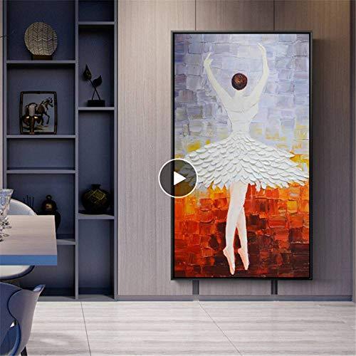 Taste Ballerina (Rjjwai Moderne Abstrakte Kunst Poster Und Drucke Wandkunst Leinwand Malerei Ballerina Bilder Für Wohnzimmer Home Wanddekoration Kein Rahmen Zuhause Dekor 50x75cm)