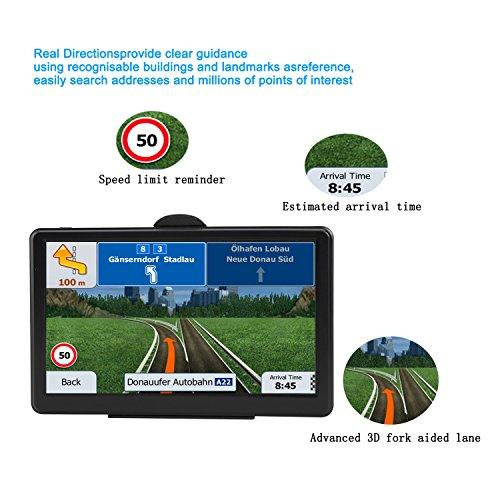 SAT NAV GPS Navigation System AONEREX-7-inch HD Touch Screen,Voice Car  Navigation System, Built-In 8GB&256MB,UK&EU Latest 2018 Maps Lifetime Free