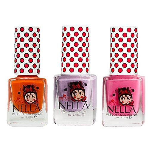 Miss Nella Schaukel rosa A Boo, Schmetterling Flügel Glitzer, Poppy Fields spezielle Glitzer Kinder Nagellack mit Peel Off auf Wasserbasis ()