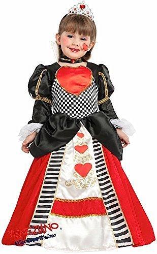 Kostüm Der Kind Wunderland Herzen Königin - Fancy Me Italienische Herstellung Mädchen Deluxe Königin der Herzen Alice im Wunderland Schule Welttag des buches-Tage-Woche Kostüm Kleid Outfit 3 - 10 Jahre - 6 Years