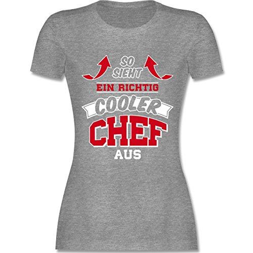 Sonstige Berufe - So Sieht ein Richtig Cooler Chef Aus - Damen T-Shirt  Rundhals