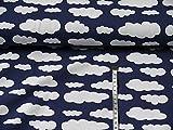 Swafing Jersey Wolken Verena dunkelblau Öko-Tex Standard