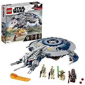 LEGO Star Wars - Cañonera Droide, juguete de construcción y aventuras de La Guerra de las Galaxias con minifigura de Yoda (75233)