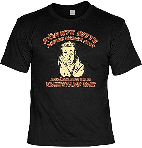 Cooles witziges Fun T-Shirt im Set mit MiniShirt - Könnte bitte jemand meiner Frau ... -für Damen Herren Farbe schwarz Schwarz