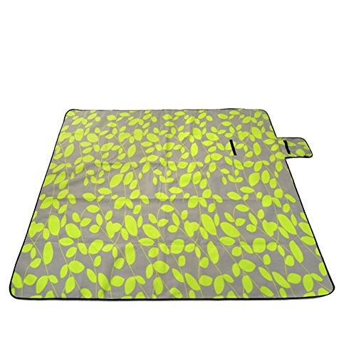 Honeystore 200*150 Flausch Picknickdecke mit wasserabweisender Unterseite Grün