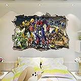 Transformers Optimus Prime Adesivi murali Adesivo murale robot rotto 60x90cm