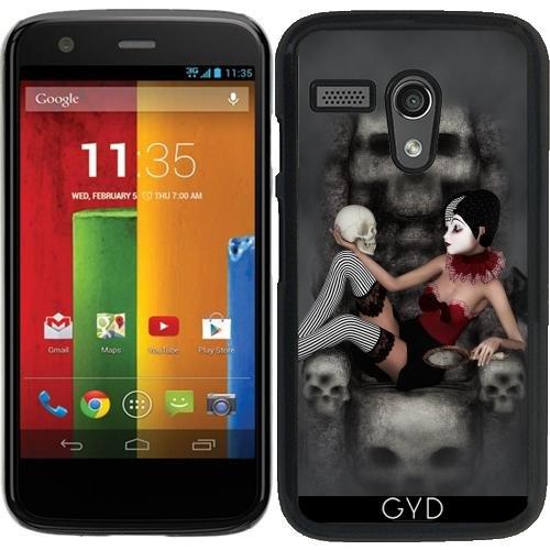 DesignedByIndependentArtists Hülle für Motorola Moto G (Generation 1) - Harlekin Horror by Illu-Pic.-A.T.Art