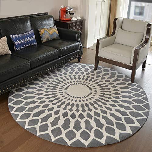 Amerikanischen handgefertigten runden Teppich Wohnzimmer Couchtisch Matte Schlafzimmer Bettdecke Nordic Kinderzimmer Stuhl Kissen europäischen Stil Zimmer (Color : Burst, Size : XL) -