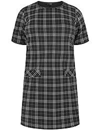46c713d47b Yours Clothing Women s Plus Size Check Tunic Dress