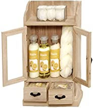 Brubaker Cosmetics 10 Pcs Beauty Gift Set for Women - Wooden Cabinet - Lemon