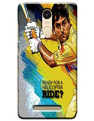 GOSMARTKART REDMI NOTE 3 HIGH QUALITY DHONI(CHENNAI SUPER KINGS) PRINTED BACK COVER