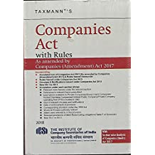 Companies Act with Rules (Paperback Pocket Edition) (January 2018 Edition)