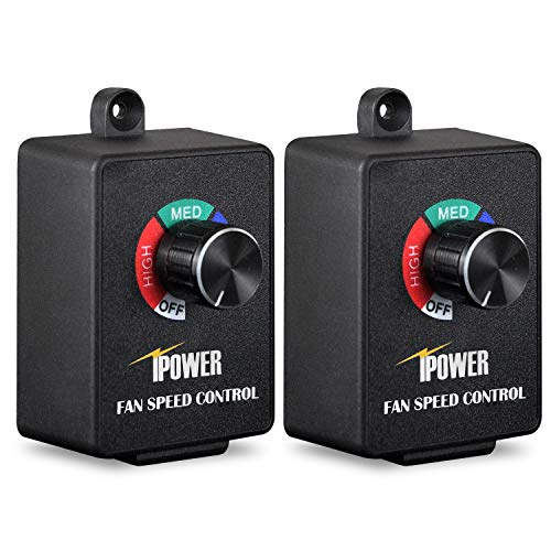 iPower 6 Zoll 240 CFM Booster Lüfter Inline Kanal Lüftung Gebläse für HVAC Auspuff Drehzahlregler Fan Speed Controller schwarz