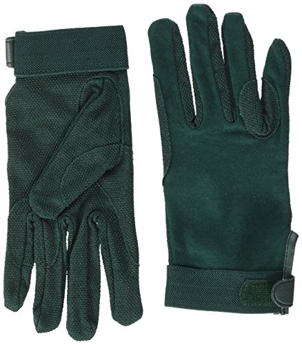 William Hunter Equestrian Horse Riding Gloves with Velcro Wrist Fastening, Cotton, Size XS–XL
