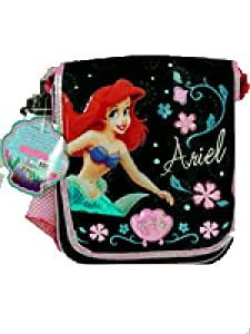 Disney Little Mermaid insulated lunch bag with shoulder strap (Black)