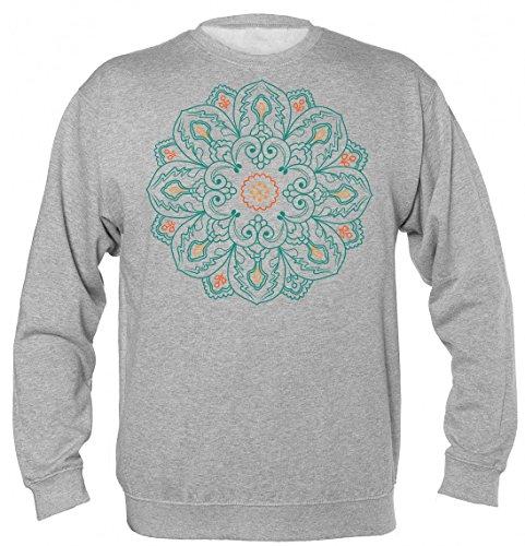 Finest Prints Colorful Mandala Spiritual Symbol Sudadera Unisex Sweatshirt XX-Large