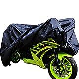 Motorrad Abdeckplane Wasserdicht Outdoor Roller Regenschutz Staubdicht Motorradabdeckung Atmungsaktiv Schutzhülle Sonnenschutz Schwarz Größe 265 x 105 x 125CM