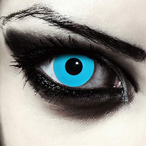 Kostüm Halloween Selene Underworld - Deignlenses, Blaue farbige Kontaktlinsen für Halloween Kostüm Farblinsen Model: Blue Bigeye