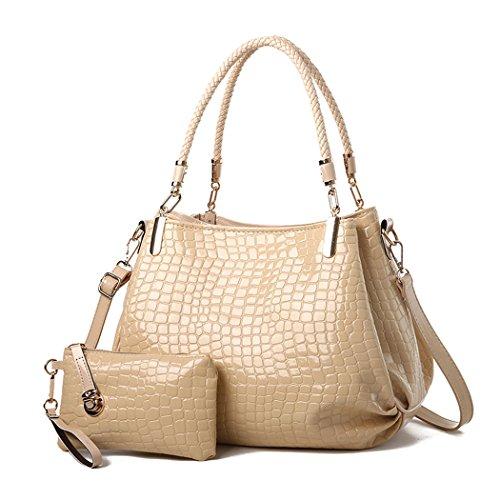 Gesteppte Tasche Mini Tote (DEERWORD Damen Umhängetaschen Handtaschen Totes Henkeltaschen Schultertaschen Leder Gold)