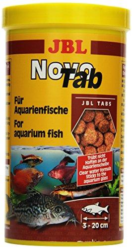 JBL NovoTab 30245 Alleinfutter für fleischfressende Aquarienfische, Tabletten 1 l