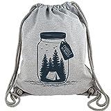 FABTEE - Gym Bag Kollektion - Grau meliert - Turnbeutel aus Fair Trade Bio Baumwolle in hochwertiger...
