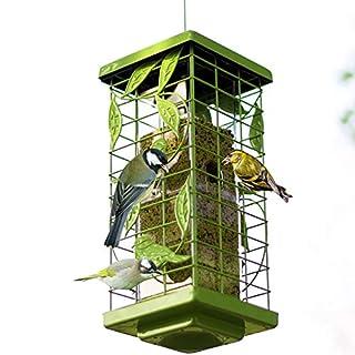 DJLOOKK Mangiatoia per uccelli, Mangiatoia automatica per uccelli Mangiatoia per uccelli Mangiatoia per uccelli Adatto per giardino all'aperto Decorazione per uccelli,Green