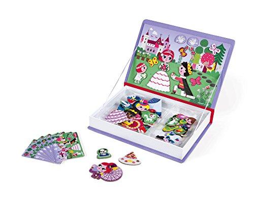 Janod J02725 Magnéti\'book Princesses, 55 Magnets Magneti\'Book Prinzessin, violett