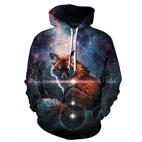 URVIP Unisex Slim Fit 3D Digital Bedruckte Sweatshirt Kapuzenpullover Hoodies QYDM-479 S/M (2019 Halloween-party Sm)