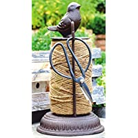 Garden Foundry Cast Iron String Holder with decorative bird set