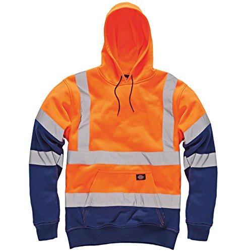 Dickies  Herren Arbeitshemd, Einfarbig Gr. Medium, Orange Navy / Two Tone (Cord-arbeitshemd)