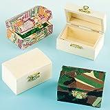 Mini-Schatztruhen aus Holz - zum Bemalen und Dekorieren für Kinder - Kästchen zur Aufbewahrung (4 Stück)