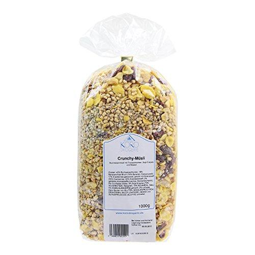 Crunchy Müsli ● Buchweizen ● Bananenchips ● Cranberries ● Cornflakes ● Haselnüssen und Mehr ● 1 kg Packung ● KoRo (Cornflakes Honig)