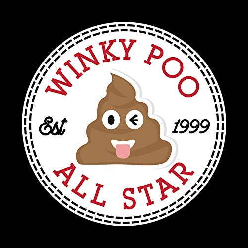 Winky Poo Emoji All Star Converse Logo Women's Vest Black