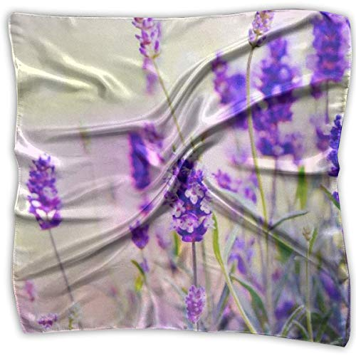 Lavender Silk Eye (Dream Lavender Print 100% Silk, Silk Scarf Square, Small Handkerchief, Bandana Classic Square Scarf Small)