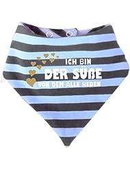 Baby - Kinder Halstuch gestreift - Ich bin der Süße von dem alle reden / in 9 Designs / Größen 0-36 Monate