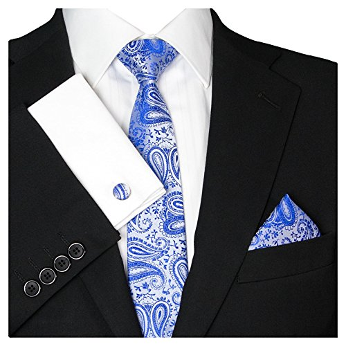 3- SET Krawatte & Einstecktuch Manschettenknöpfe Blau Silber Grau BINDER Schmale KRAVATTE zum ANZUG VERLOBUNG HOCHZEIT HERREN SCHLIPS Hochzeitskrawatte