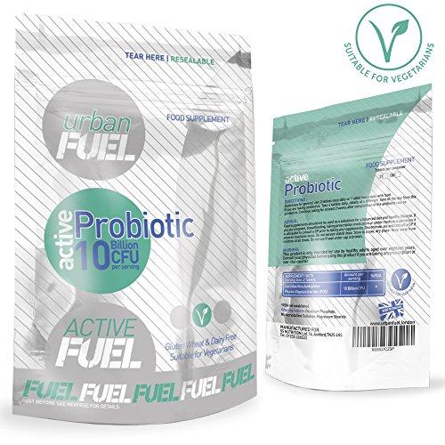 Active Probiotic By Urban Fuel 10 Billion CFUS Source in each serving of Active Probiotics Lactobacillus, Acidophilus - Bacteria For Healthy Digestive System.
