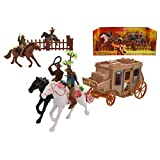 KandyToys Wild West Cowboy & Stagecoach Play Set