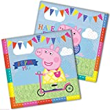 Peppa Pig 2 Ply Luncheon Napkins - 13 Inches / 33cm - Pack of 16