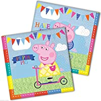 Peppa Pig 2 Ply Luncheon Napkins – 13 Inches / 33cm – Pack of 16