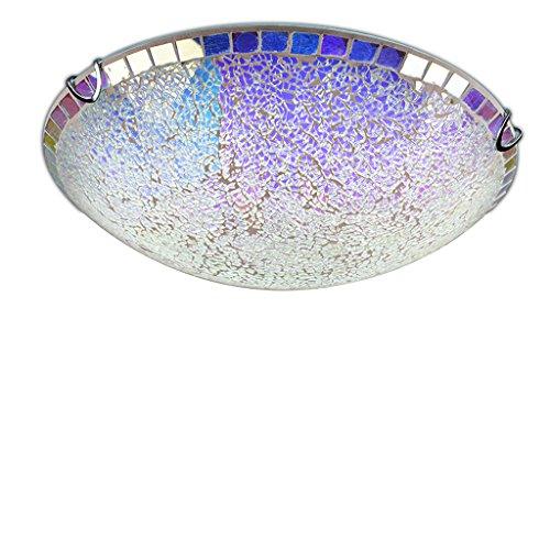 luci di colore Bohemian rottame di vetro soffitto a cupola circolare luce giardino mediterraneo portico luci balcone corridoio bambini LED 30 centimetri