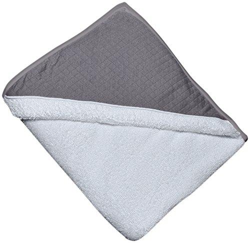 Tablier sortie de bain Eponge blanche + Capuche Fleur de Coton grise