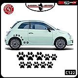 Adesivo Sticker Terzo Stop per Nuova Fiat Cinquecento 500 Abarth -