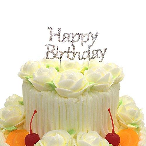 Happy Birthday cake topper, Twinkle DIY glitter strass Love cake Decorating stampo per decorazioni torte e cioccolato